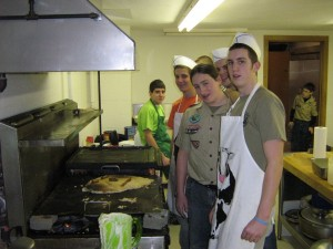 Troop 4 Chefs in Action