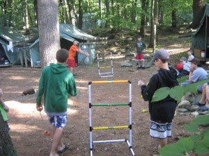 Ladder Ball Tournament Action