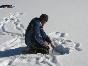 Ice Fishing the Hard Way
