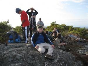 Fall boy scout camping trip