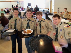 The Troop 4 wait staff