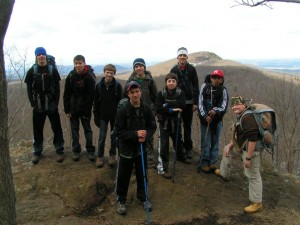 The 10 mile team reaches first summit