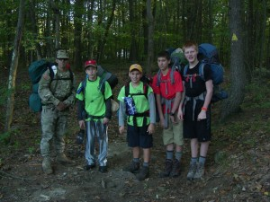 Midstate Trail backpackers